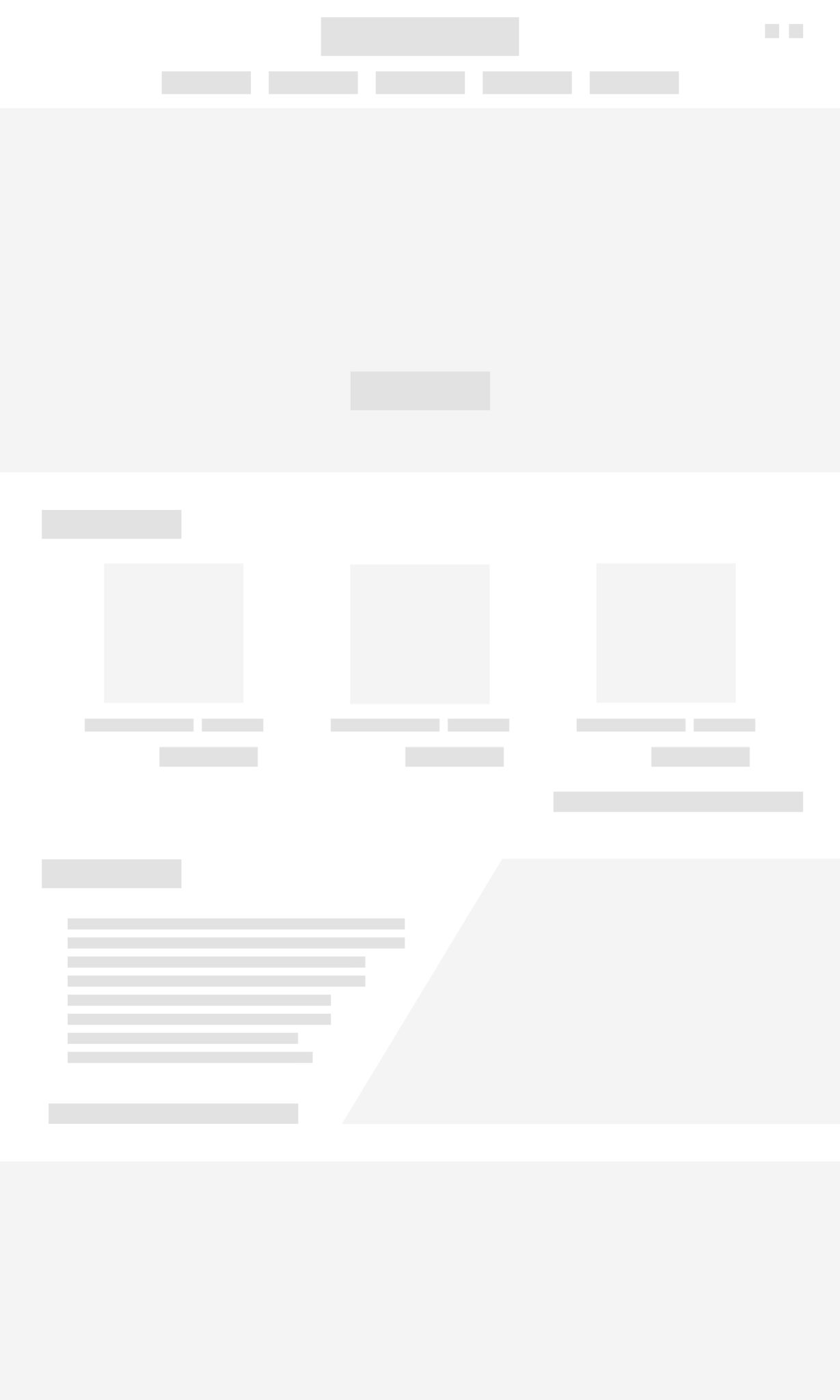 Wireframe - Page acceuil
